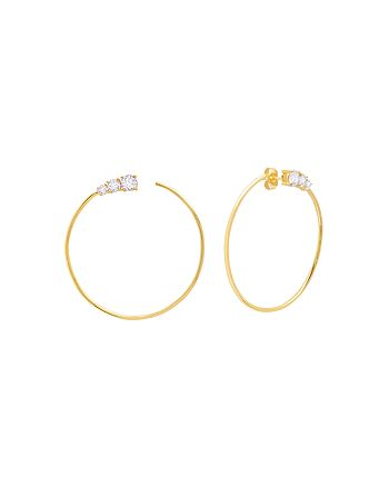 Crislu - Embellished Hoop Earrings