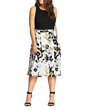 Rochie midi CITY CHIC Art Darling