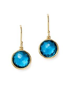 IPPOLITA - Ippolita 18K Gold Lollipop Earrings in London Blue Topaz
