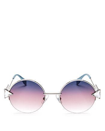 Fendi - Women's Embellished Round Sunglasses, 50mm