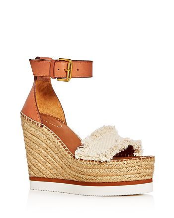 See by Chloé - Women's Glyn Ankle Strap Espadrille Wedge Sandals