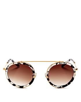 Krewe - Women's Conti 24K Gradient Round Sunglasses, 46mm