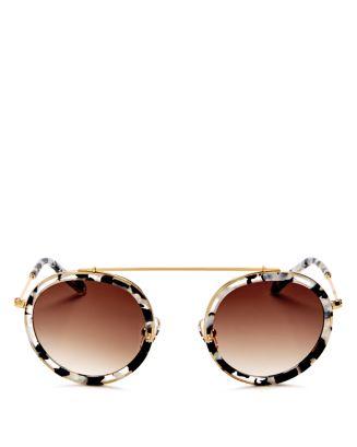 Women's Conti 24 K Gradient Round Sunglasses, 46mm by Krewe