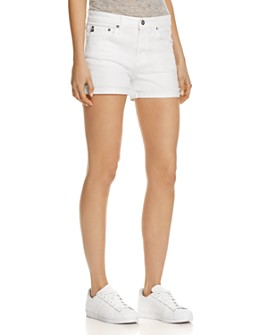 AG - Hailey Denim Shorts in White