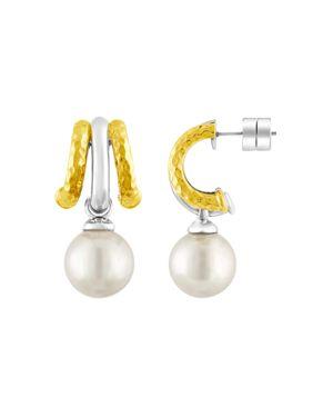 Majorica Simulated Pearl Hoop Earrings