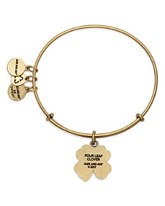 Alex and Ani - Four Leaf Clover Expandable Wire Bangle