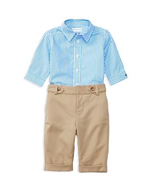 Ralph Lauren Childrenswear Boys Button Down  Pants Set  Baby