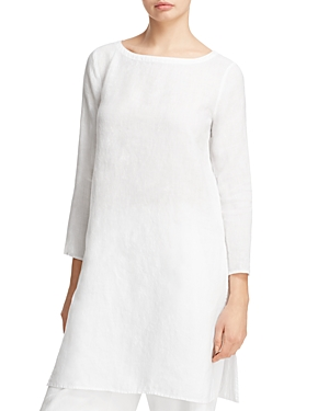 Eileen Fisher Organic Linen Boat Neck Tunic