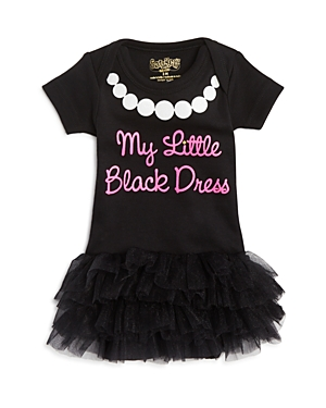 Sara Kety Girls' My Little Black Dress Tutu Bodysuit - Baby