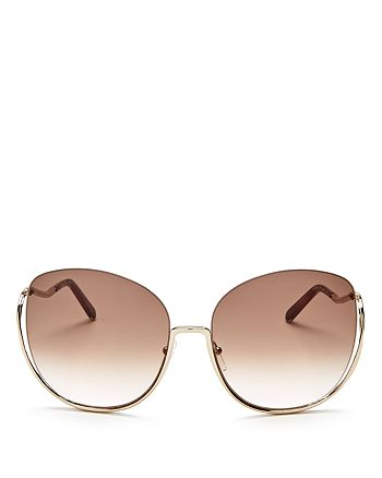 Chloé - Women's Milla Oversized Round Sunglasses, 64mm