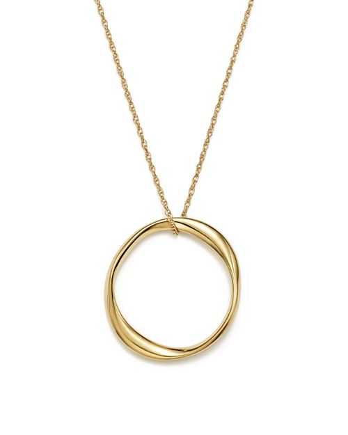 "Bloomingdale's - 14K Yellow Gold Twisted Ring Pendant Necklace, 18"" - 100% Exclusive"