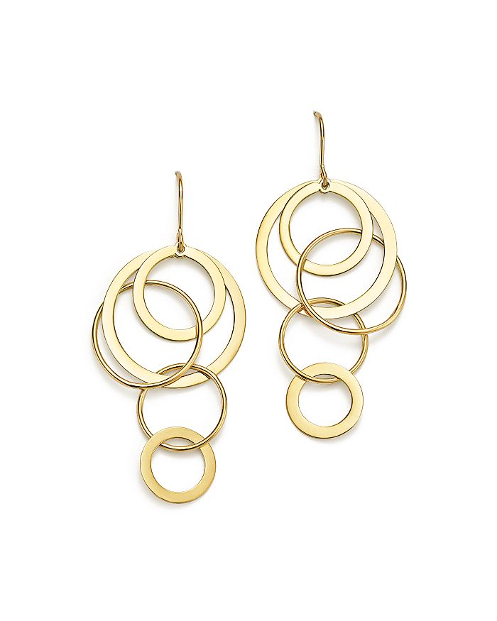 Bloomingdale's - 14K Yellow Gold Cascading Circle Earrings - 100% Exclusive
