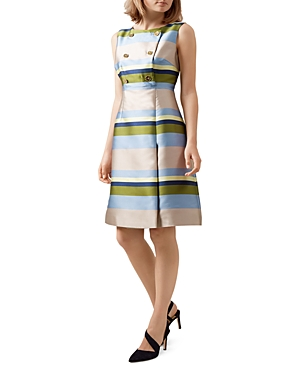 Hobbs London Ada Striped Dress
