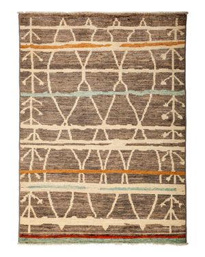 Solo Rugs Moroccan Area Rug, 5'4 x 7'