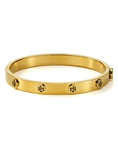 Tory Burch - Logo Studded Hinge Bangle