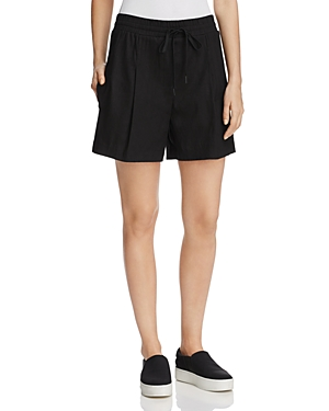 Dkny Drawstring Linen-Blend Shorts