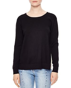 Sandro Ipolit Silk-Back Sweater