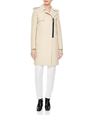 Sandro Croisiere Zip-Front Trench Coat