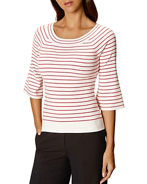 Karen Millen Fine-Stripe Sweater