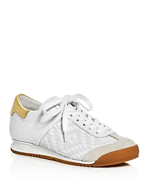 Ash Scorpio Woven Lace Up Sneakers
