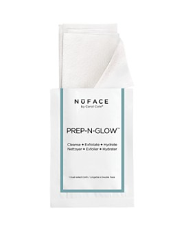 NuFace - Prep-N-Glow Cleansing & Exfoliating Cloths, 5 Pack