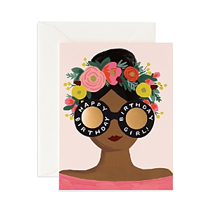 Rifle Paper Flower Crown Bday Card