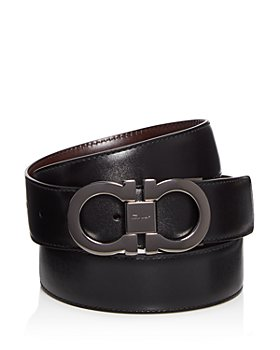 Salvatore Ferragamo - Men's Double Gancini Buckle Reversible Leather Belt