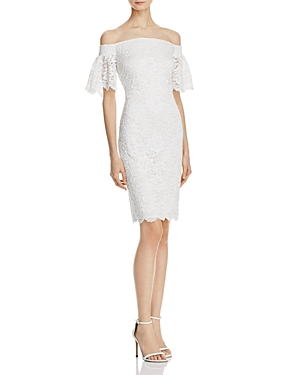 Laundry by Shelli Segal Off-the-Shoulder Lace Dress