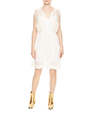Sandro Gracie Lace-Trimmed Dress