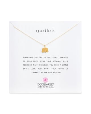 GOLD GOOD LUCK ELEPHANT NECKLACE, 16