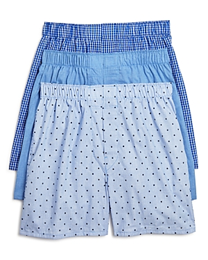 The Men's Store at Bloomingdale's Cotton Boxers, Pack of 3 - 100% Exclusive
