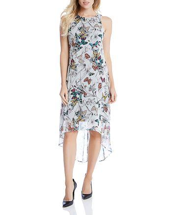 Karen Kane - Butterfly Print High/Low Dress