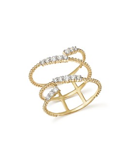 Bloomingdale's - Diamond Beaded Swirl Ring in 14K Yellow Gold, .45 ct. t.w. - 100% Exclusive