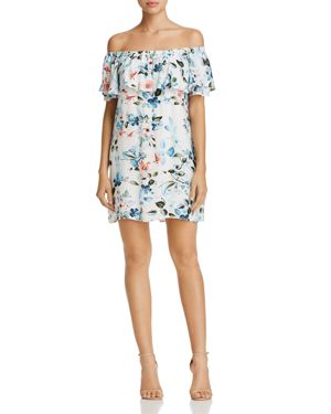 Sanctuary Floral Off-the-Shoulder Dress