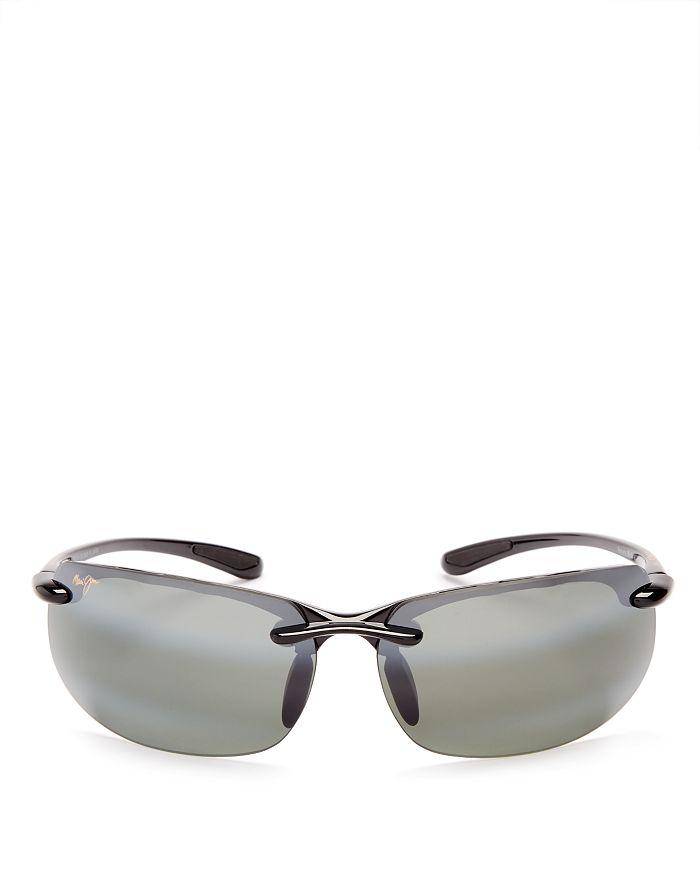 8ac7b4264a02 Maui Jim Men's Banyans Polarized Rimless Wraparound Sunglasses, 73mm ...