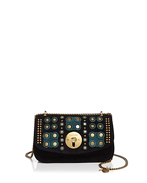 See by Chloe Lois Embellished Suede Shoulder Bag