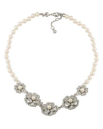 "Carolee - Flower Collar Necklace, 16"""