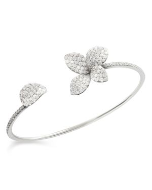 Pasquale Bruni 18K White Gold Secret Garden Pave Diamond Cuff