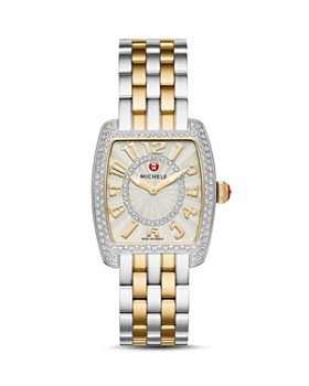 MICHELE - Urban Mini Two-Tone Diamond Dial Watch Head, 29 x 30mm