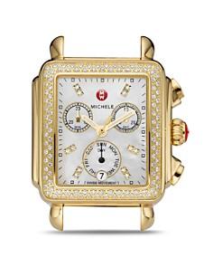 MICHELE - Deco Diamond Dial Watch Head, 33 x 35mm