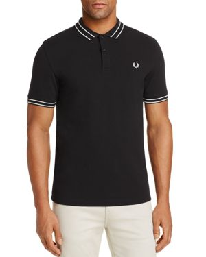 Fred Perry Tramline Tipped Pique Regular Fit Polo Shirt
