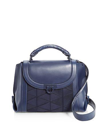 5bb3b4e271 Handbags.   Salvatore Ferragamo - Suzanna Crocodile Handle Leather Satchel