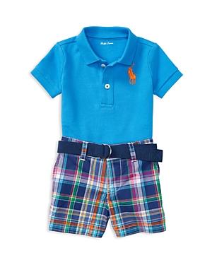Ralph Lauren Childrenswear Boys Polo  Plaid Shorts Set  Baby