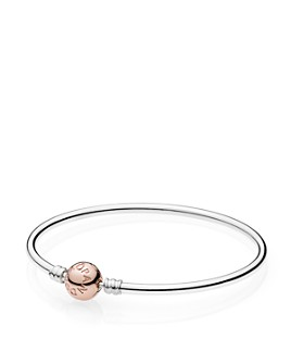 Pandora - Sterling Silver & 14K Gold Bangle Bracelet