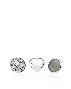 PANDORA Charms - Sterling Silver, Grey Moonstone & Cubic Zirconia June Petites, Set of 3 - Bloomingdale's_0
