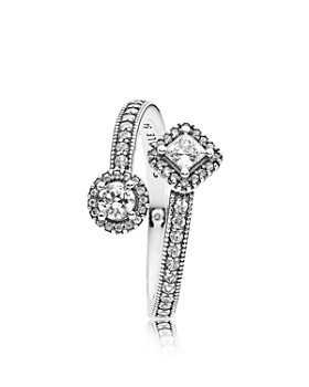 PANDORA - Sterling Silver & Cubic Zirconia Abstract Elegance Ring