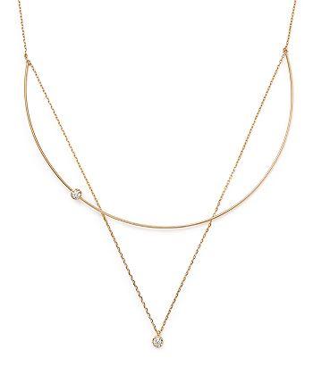KC Designs - 14K Yellow Gold Diamond Bezel Pendant Collar Necklace