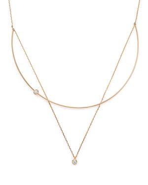 Kc Designs 14K Yellow Gold Diamond Bezel Pendant Collar Necklace