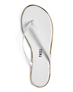 TKEES - Women's Patent Leather Flip Flops
