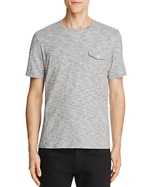 Michael Bastian Textured Space Dye V-Neck Pocket Tee